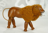 American Wooden Carved Lion, Style I, with Cloth Mane by Schoenhut 700/900