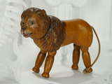 Very Rare American Carved Wooden Lion, Possibly Prototype, by Schoenhut 700/1100