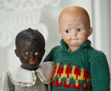 Rare Tiny German Black-Complexioned Bisque Character by Gebruder Heubach 700/900