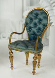 French Salon Chair for Poupee with Tufted Upholstery 500/700
