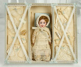 French Bisque SFBJ 236, Size 0, in Original Presentation Box with Costumes 1100/1500