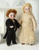 German All-Bisque Miniature Doll as Bridegroom 400/500