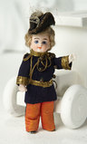 All-Bisque Miniature Doll for the French Market in Original Military Costume 400/500