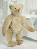 Petite German White Mohair Teddy with Blank Button in Ear 1700/2300