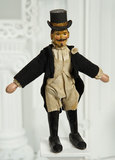 Rare American Wooden Ringmaster with Top Hat by Schoenhut 600/900