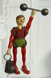 American Wooden Gent Acrobat with Weights by Schoenhut 700/900
