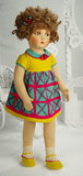 French 1930s Studio Cloth Doll in Stylish Costume 800/1200