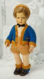 Italian Felt Character Boy by Lenci in Original Crisp Schoolboy Costume 800/1100