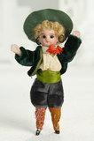 Petite German All-Bisque Miniature Doll in Original Costume 300/500