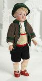 Petite German Bisque Character, 184, by Kestner in Original Tyrolean Costume 1100/1300