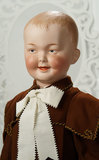 German Bisque Laughing Character Boy, 7647, by Gebruder Heubach in Rare Grand Size 1200/1700