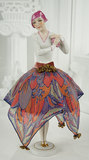German Porcelain Half-Doll as Fashionable Art Deco Lady 400/600