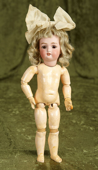 """12"""" Petite German bisque child by Bergman with original body and wig. $400/500"""