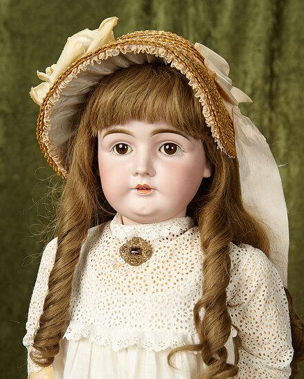 """32"""" German bisque child, 146, by Kestner with original Excelsior body. $600/800"""