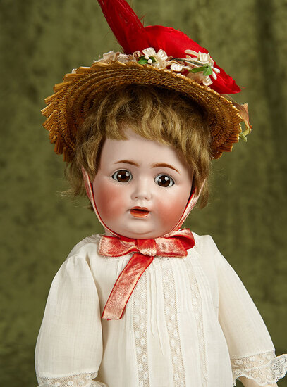 """18"""" German bisque flirty-eyed character, 260, by Kestner with rarer toddler body. $500/700"""