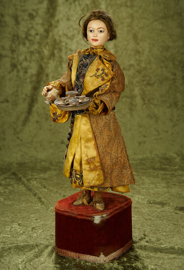 "French musical automaton ""Chinese Tea Server"" by Leopold Lambert $4000/5500"