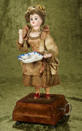 "French Musical Automaton ""Lady Serving Tea"" by Roullet et Decamps $3500/4500"