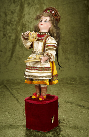 "French musical automaton ""Russian Tea Server"" by Leopold Lambert $4000/5000"