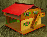 German wooden dollhouse with unusual double-play possibilities $300/400