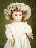 French bisque Bebe Triste, size 14, by Emile Jumeau with beautiful gleaming complexion $9000/11000