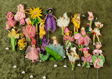 Twenty German cloth Flower Puppets from BAPS, early US Zone era $600/800