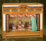 Japanese miniature theatre with performers, under special commission $300/500