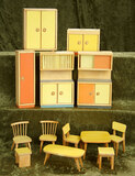 German wooden dollhouse furnishings in the 1950s style from Paris toy store of Au Nain Bleu $200/300