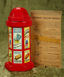 French lithographed tin coin bank for Chocolate Menier from Au Nain Bleu $300/500
