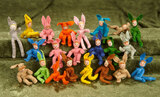 Collection of 22 cloth miniature bunnies from BAPS $200/300