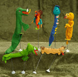 Five Animal Puppets and Rumpelstilskin Puppet by BAPS $200/300
