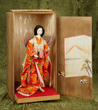 Japan portrait Butterfly Lady with original costume, platform and box $300/500
