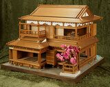 Superb Japanese miniature dollhouse with exceptional architectural detail $700/1100