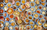 Grand collection of miniature foods on original paper doilies and plates $300/500