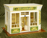 French miniature wooden doll shop