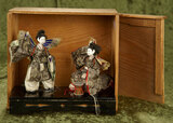 Pair, Japanese Butterfly Dancers, Original Stand and Box $100/300