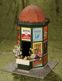 French Miniature Kiosk with wonderful advertising posters $200/300