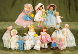Fifteen German little girls and babies in original costumes by BAPS $300/400