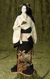Japanese Kyoto-Bijan lady with distinctive pose and costume $200/300