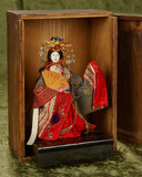 Japanese imperial female in petite size with elaborate costume, original box $200/400