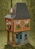 French wooden miniature building in Medieval style, special commission for Huguette Clark $200/300