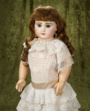French bisque bebe by Emile Jumeau in lovely antique dress $3000/3800