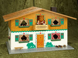 German wooden dollhouse,Bavarian style, decorations, furnishings, Caco dollhouse dolls $500/700