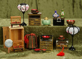 Group of vintage Japanese miniature furnishings and accessories $300/500