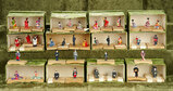 Twelve boxes of tiny, tiny Japanese miniature dolls in original costumes $200/300