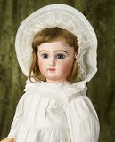 French bisque bebe by Emile Jumeau with especially beautiful features, original body $2800/3200