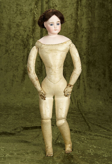 """23"""" Beautiful French bisque poupee by Jumeau with original signed body. $2700/3300"""