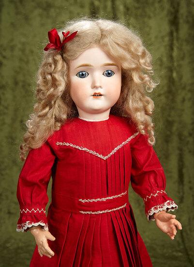 "25"" German bisque ""My Girlie"" for George Borgfeldt in wonderful antique dress. $400/500"