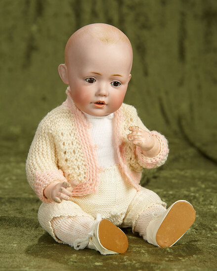 """13"""" German bisque character, Hilda, by Kestner, original body and body finish. $1200/1500"""