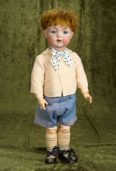 """22"""" German bisque toddler, 121, by Kammer and Reinhardt, original wig and body. $500/700"""