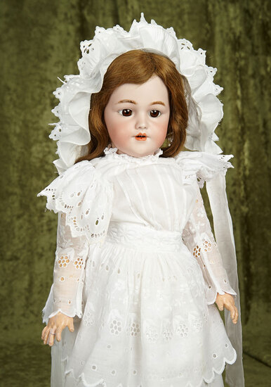 """26"""" German bisque child doll, 1249, by Simon and Halbig, original body and body finish. $800/1100"""